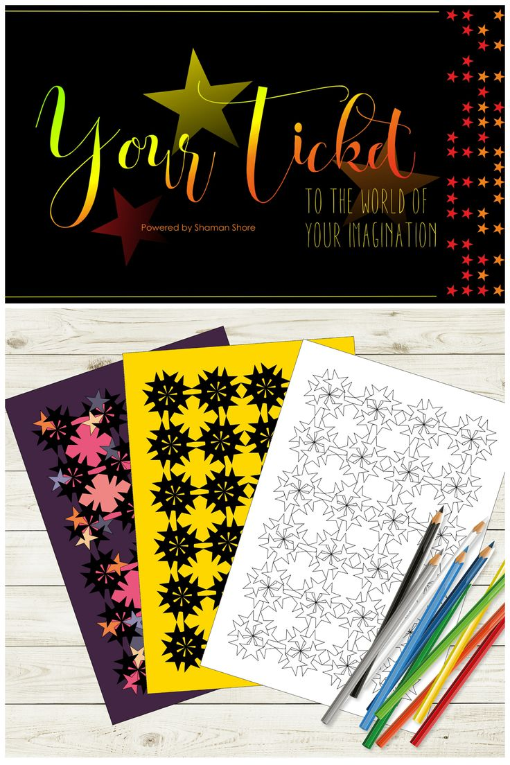 Creative Activity for Adults Stars Coloring Book Digital Download Adult Coloring Pages Printable
