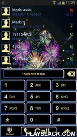 New Years Eve For GO Contacts  Android App - playslack.com ,  Aanvraag voor GO Contacten beeltenis exploderende vuurwerk. Toepassing is ontworpen om het nieuwe jaar vakantie te beginnen. Foto toont de schoonheid van de kleurrijke exploderende vuurwerk. Elke lijst met contacten wordt aangegeven andere vuurwerk. Contact namen zijn blauw, de datum en tijd van het donkerblauw. De achtergrond is zwart toetsen, cijfers en letters zijn in het geel. Andere artikelen zijn verkrijgbaar in zwart en…