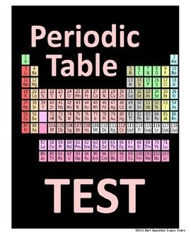 Print and go! This is a very straightforward test on the Periodic Table. There are 22 multiple choice questions which primarily focus on how to use the Periodic Table, such as finding the atomic number, the atomic mass, number of protons, number of neutrons, and the basic parts of an atom.