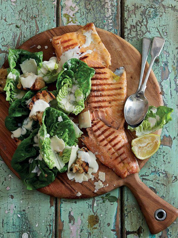 Crunchy Fresh Caesar Salad With Trout