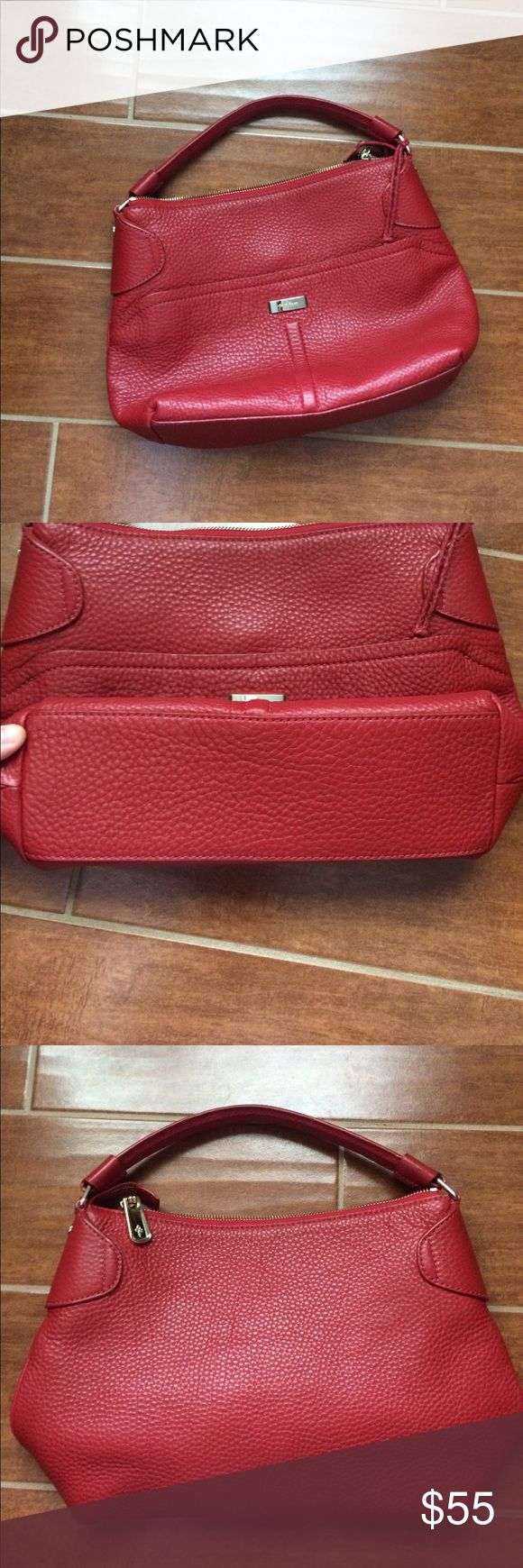 Cole haan purse EXCeLLEnt condition ! Red pebble leather cole haan shoulder purse Cole Haan Bags Shoulder Bags