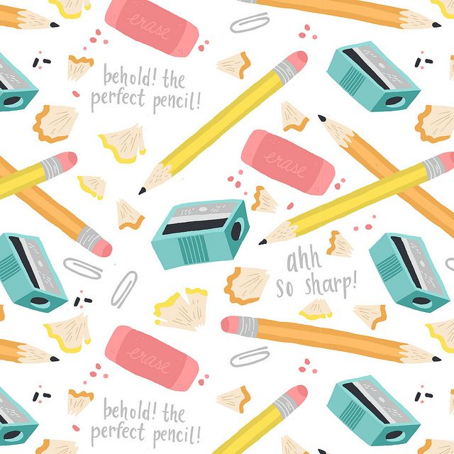 Daily Pattern - Writing Utensils by Alyssa Nassner,
