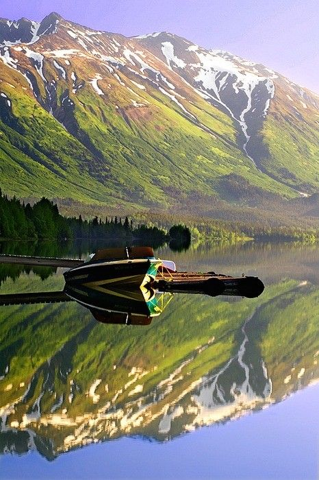 Chugach National Forest, Kenai Peninsula, Alaska. It is as beautiful in person as it is in this picture.