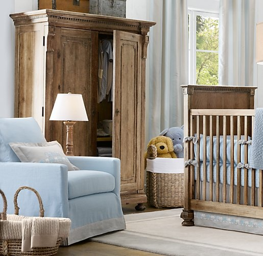 Tailored Track Arm Swivel Glider with Slipcover....great baby room chair.
