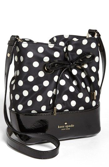 Love the polka dots  kate spade new york 'west valley - valentine' bucket bag available at #Nordstrom