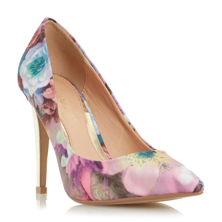 Head Over Heels Addyson pointed high heel court shoes, Multi-Coloured