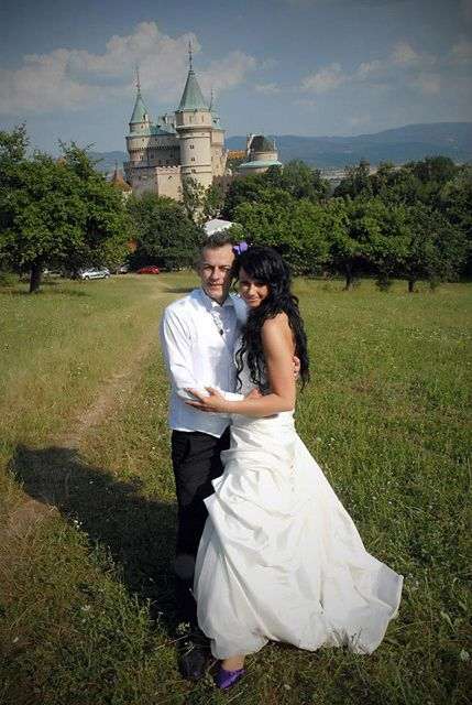 Wedding at castle Bojnice, Slovakia, Europe - for a gorgeous couple from Bosnia living in Germany. Complicated planning worked well at the end of the day and everybody was happy.