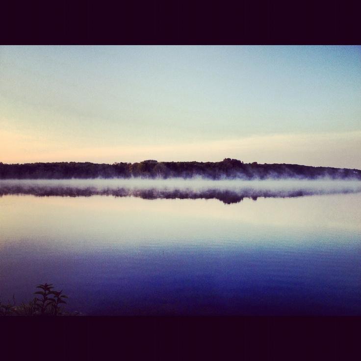 #lake #kawarthas #places #mist #summertime