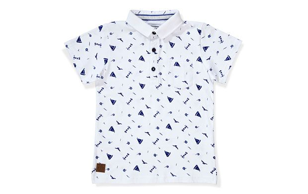 Boat print polo shirt from Sainsburys