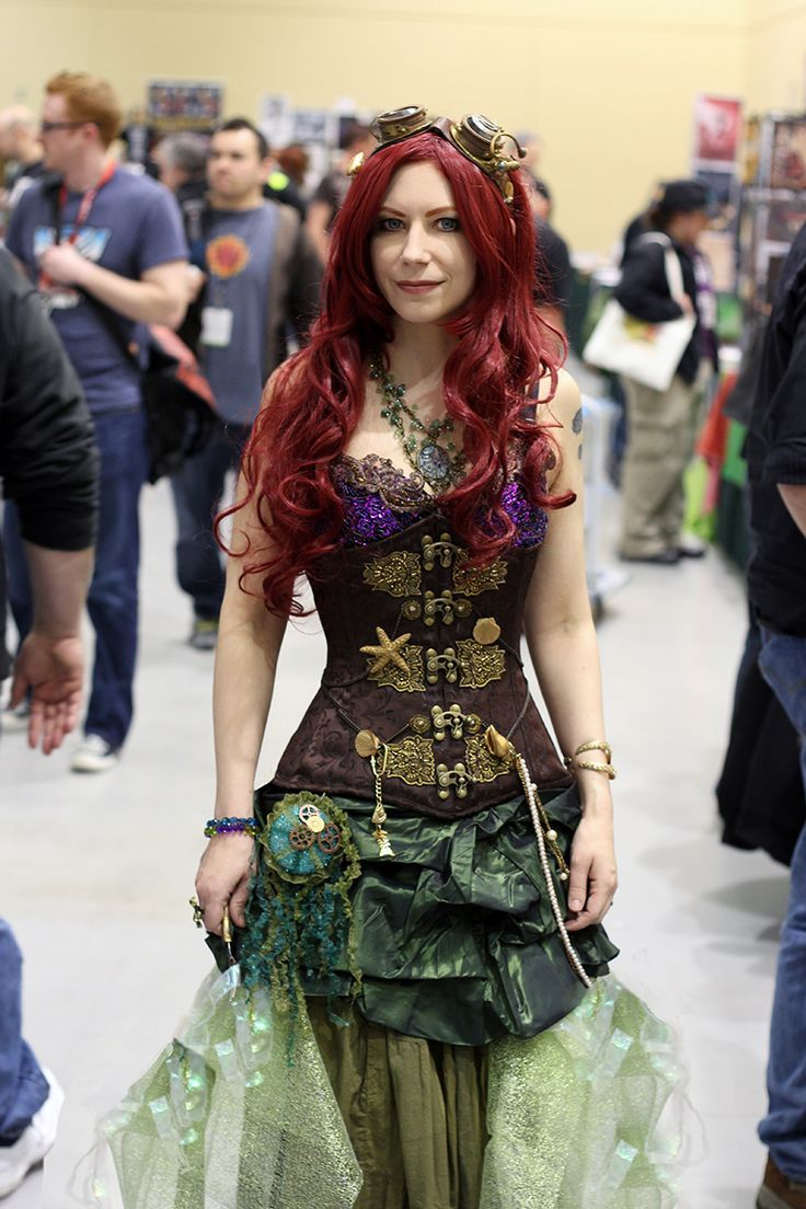 Steampunked Ariel, The Little Mermaid.   #cosplay #steampunk #TheLittleMermaid