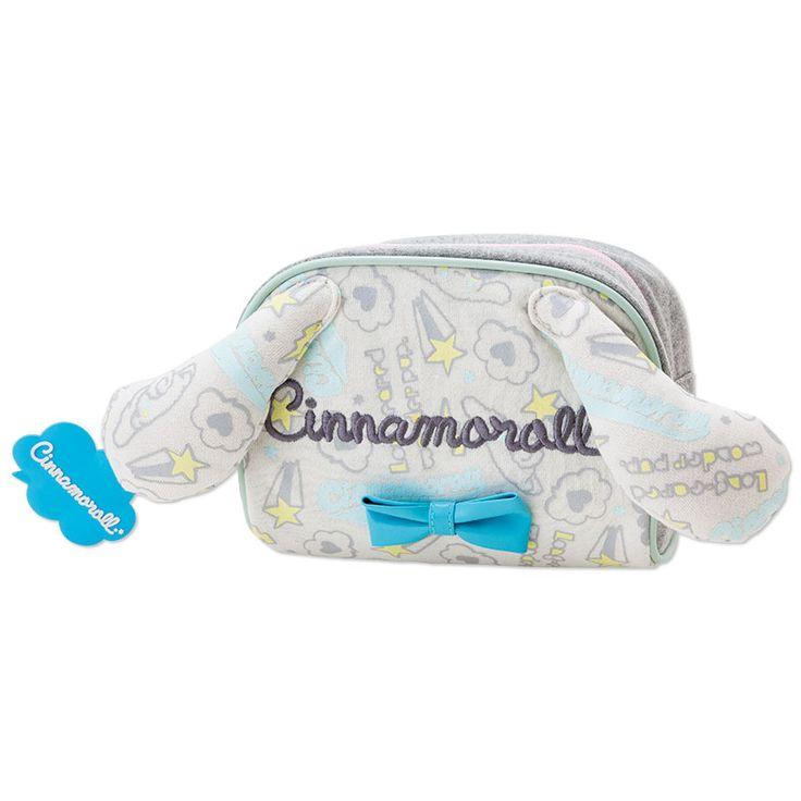 Cinnamoroll Pouch Cosmetic Bag with Ears SANRIO JAPAN Logo