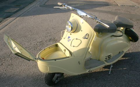 1955 Peugeot with built in front toilet?