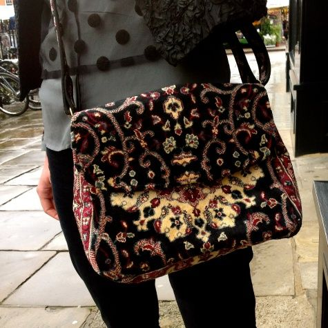 Cross Body Carpet Bag, handmade in Suffolk - £135.00 - Ark Cambridge