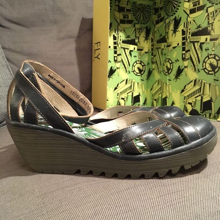 FLY LONDON Womens Ladies Shoes, size 8 UK/ 41, dark blue/ petrol, (£65 if new)  | eBay