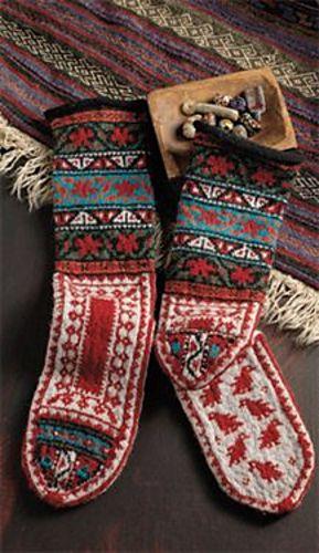 stranded knitting socks