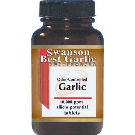 Swanson Best Garlic Supplements Odor-Controlled Garlic 500mg 250 Tablets