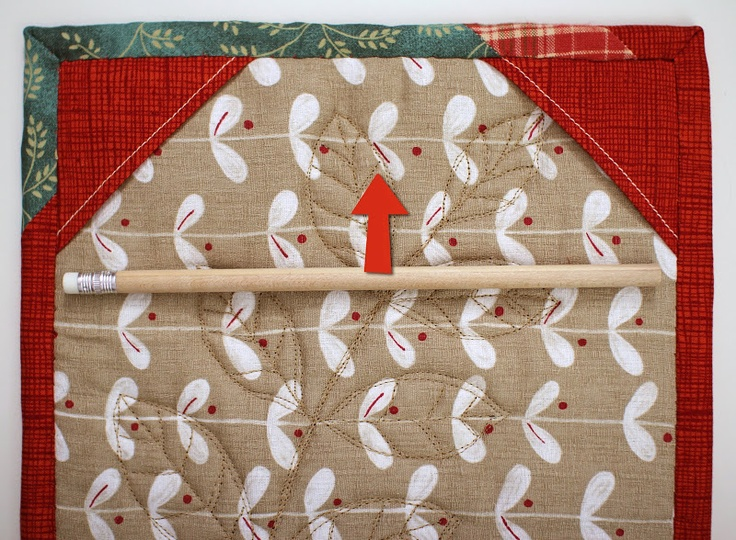 Tutorial....Corner Pocket instead of hanging sleeve for small quilt projects.