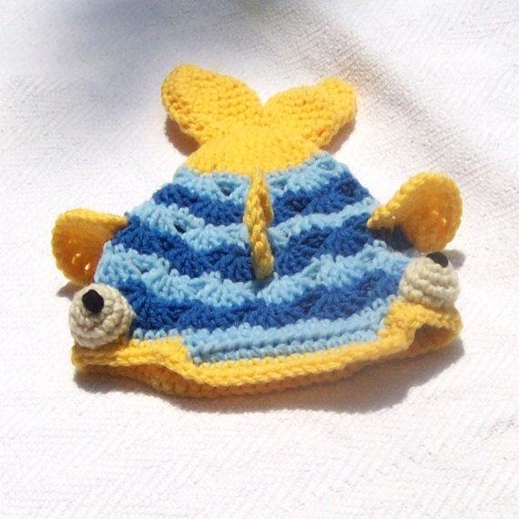 Craftypodes crochet fish hat