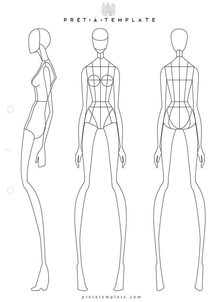 Fashion Body Figure Template Premium Vec