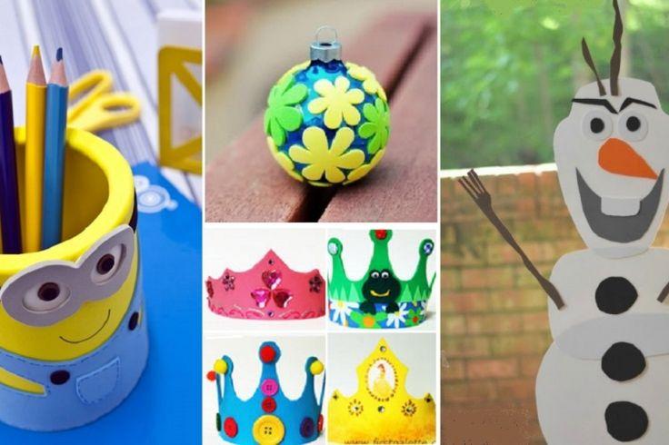 26 bricolages pour enfants faire avec des feuilles de mousse eva bricolages enfants. Black Bedroom Furniture Sets. Home Design Ideas