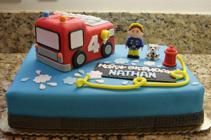 Beautiful Kitchen: Firetruck Theme Cake