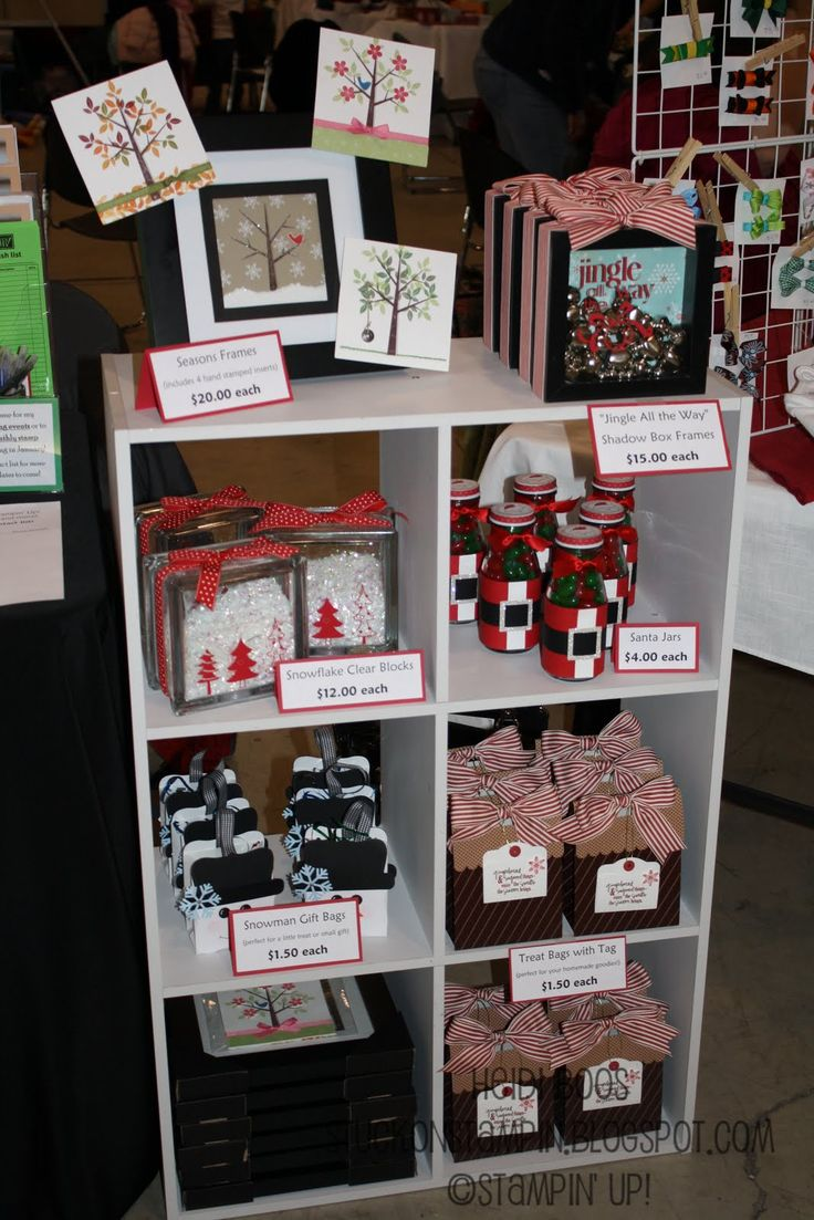 Christmas Craft Booth Ideas Part - 41: Stuck On Stampinu0027: Craft Bazaar Round-Up Ideas Galore. Another Idea Elaine  Olds