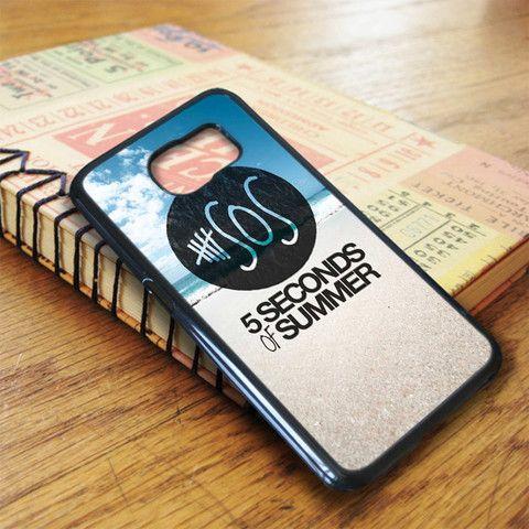 5 Second Of Summer Beach Samsung Galaxy S7 Edge Case