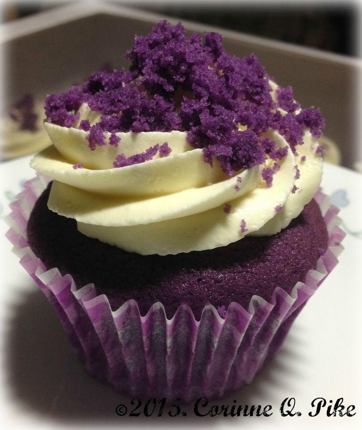 Heart of Mary: Ube cupcakes
