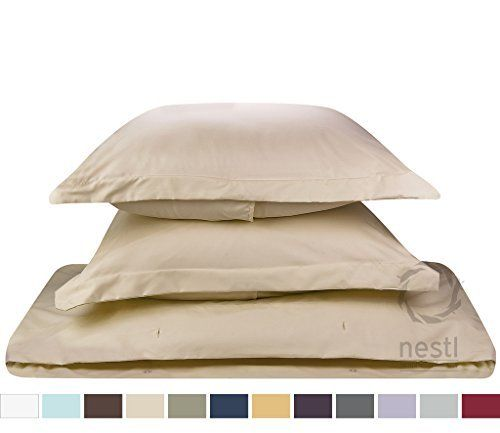 Duvet Cover for a Duvet Insert Comforter King Size Beige Cream Solid Color 100 Double Brushed Microfiber Fabric 1800 Series Luxury Bedding Collection Hypoallergenic Most Cozy Comfortable Bedroom Set on Amazon Basic 3Piece Set Includes Silky Soft Duvet Cover with Pillow Shams Supreme Quality Bed Linen Sale by Nestl Bedding -- Visit the image link more details.