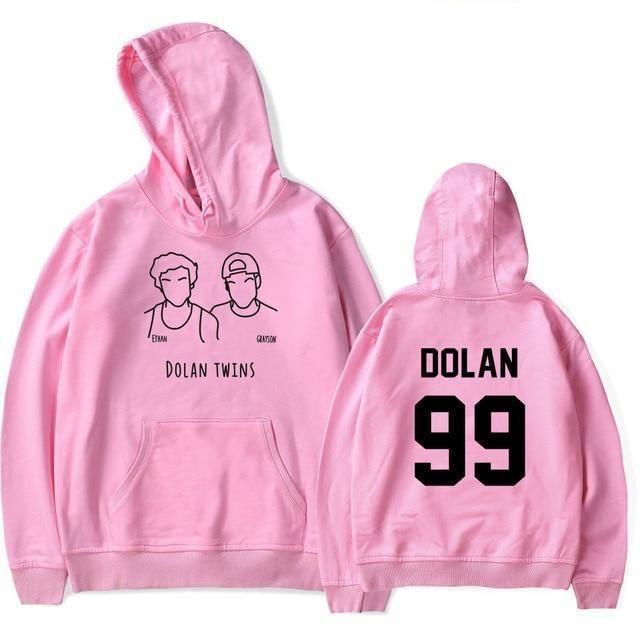 Dolan Twins Hoodie Full Print Polyester New Women/'s Hoodie Longsleeve
