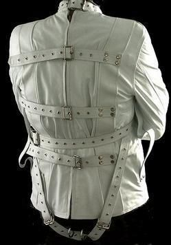Real Leather White Heavy Duty Straightjacket