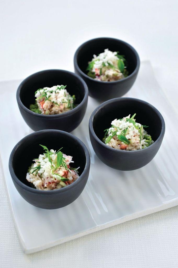 """Het lekkerste recept voor """"Krab met avocado en platte kaas"""" vind je bij njam! Ontdek nu meer dan duizenden smakelijke njam!-recepten voor alledaags kookplezier!"""