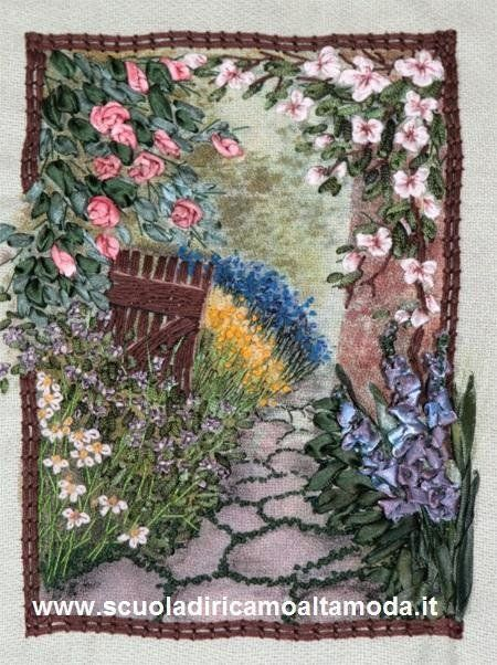 Silk ribbon embroidery landscape by Fashion embroidery ...