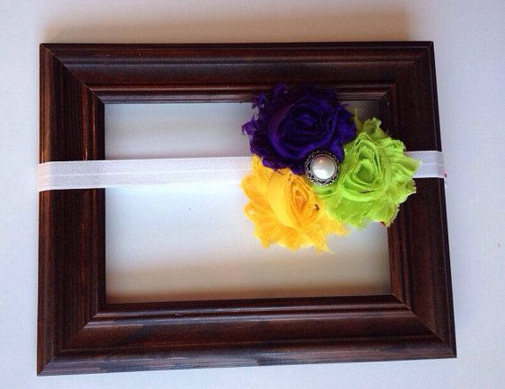Mardi Gra headband by AboutASprout on Etsy, $8.50