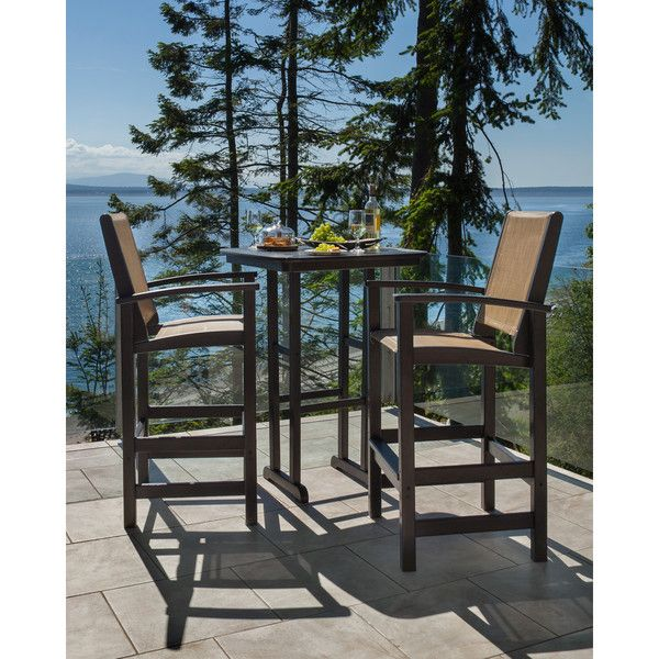 Coastal Tall Polywood 3-piece Outdoor Bar Set - Overstock™ Shopping - Big Discounts on Polywood® Bistro Sets