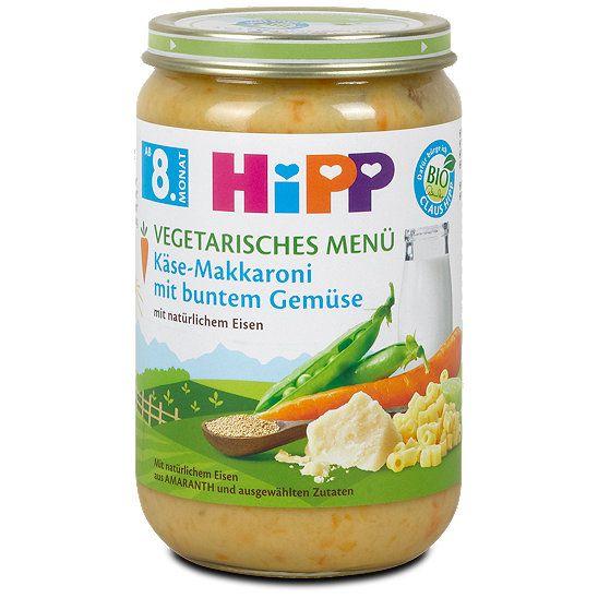 Hipp vegetarisches Menü Käse-Makkaroni mit buntem Gemüse, Menü im dm Online Shop.