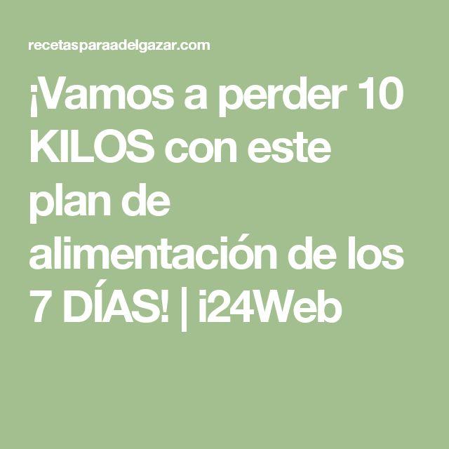 ¡Vamos a perder 10 KILOS con este plan de alimentación de los 7 DÍAS! | i24Web