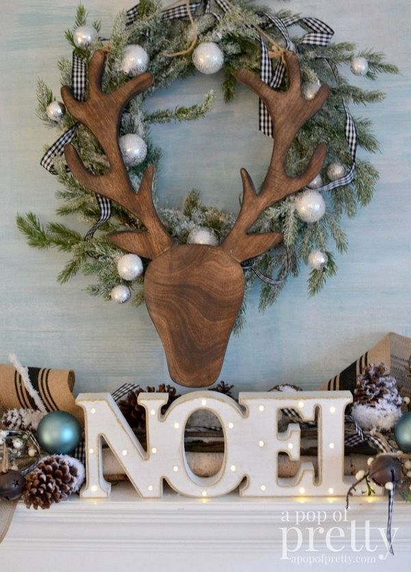 French inspired Christmas Fireplace Mantel.                                                                                                                                                                                 More