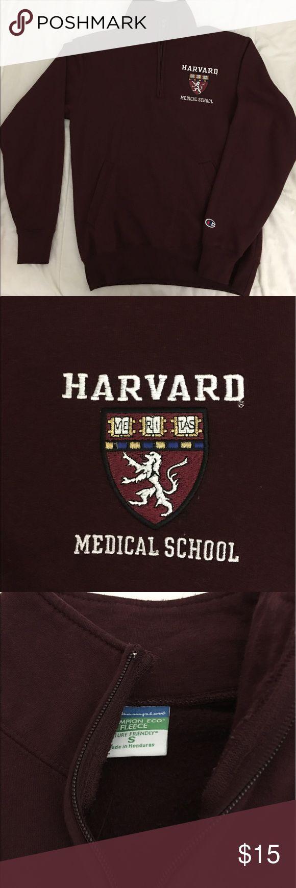 Harvard Medical School Champion zip up hoodie Cozy campus sweater! Barely worn Champion Sweaters Crew & Scoop Necks