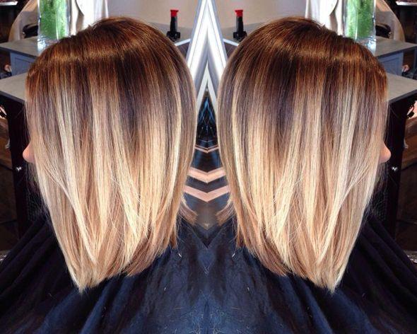 Осветление волос омбре