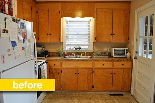 Kitchen Before & After:  A Super Budget Kitchen Makeover For $500  — Kitchen Remodel