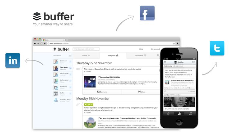 Buffer is brilliant. You can set up as many posting times as you like throughout the week and they will automatically fall into the line when you add them to your queue. Don't forget to add images, hashtags and links for extra engagement!