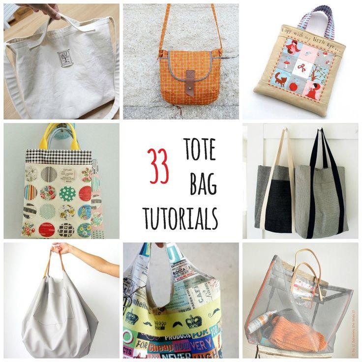 s.o.t.a.k handmade: thirty - three tote bag tutorials