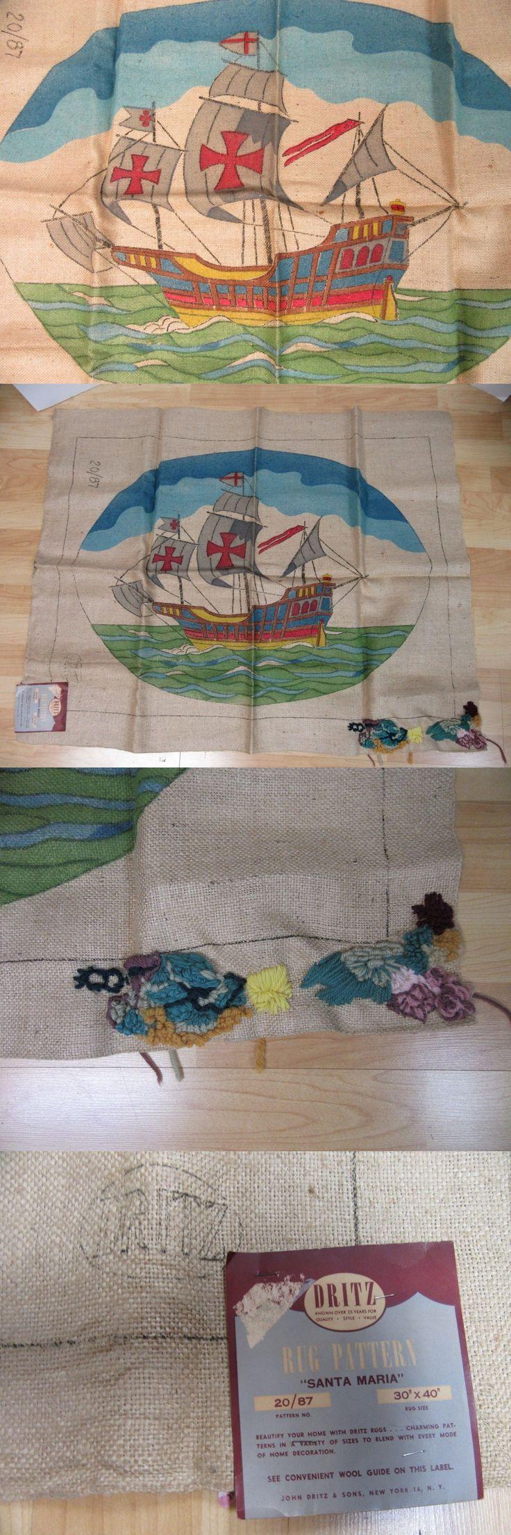 Primitive Hooking Patterns 157031: Dritz Burlap Rug Pattern 20 87 Santa Maria Sailing Ship 30X40 -> BUY IT NOW ONLY: $44.99 on eBay!