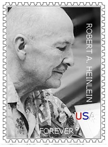 SF Author Stamps - Robert Heinlein