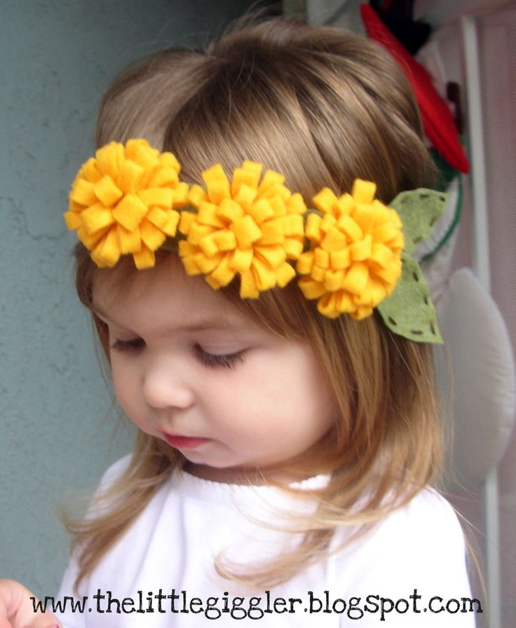 how to make a simple hairstyle at home : ... easy flower headbands tiaras felt flower headbands hairbows headbands