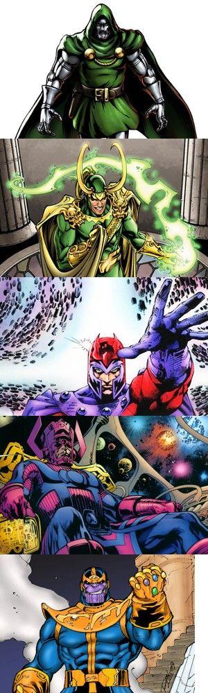 Cinque spaventosi cattivi dell'universo Marvel