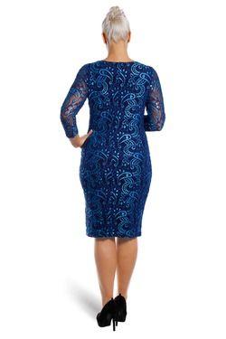 Krajkové šaty NESA s podšívkou 100 - 105 cm
