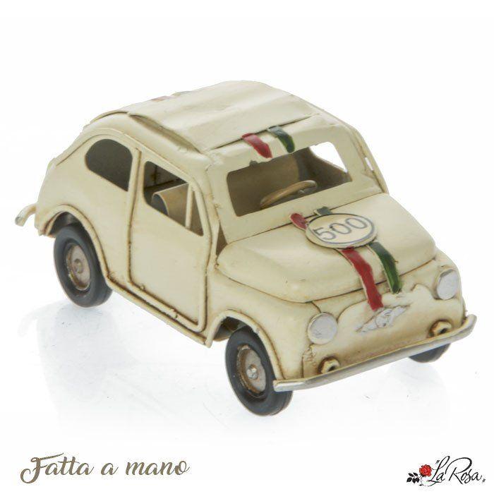 Bomboniere Matrimonio Fiat 500.Bomboniera Per Comunione Maschio Fiat Cinquecento In Metallo