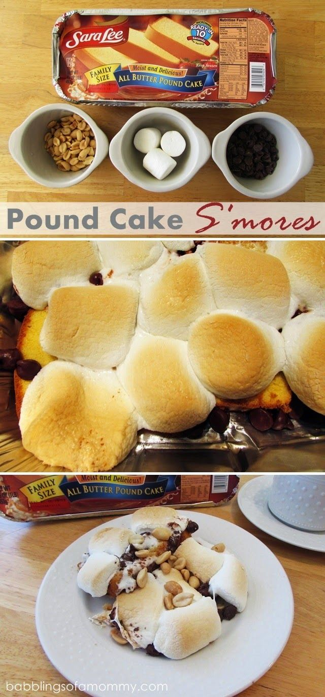 Easy Pound Cake S Mores Made With Sara Lee Pound Cake From Jenny At Babblings